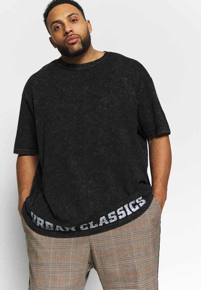 ACID WASH LOGO TEE - T-shirt med print - black