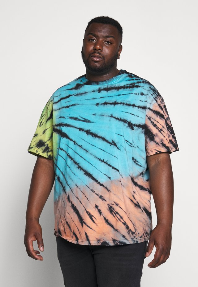 TIE DYE OVERSIZED TEE - Triko s potiskem - multi-coloured/blue