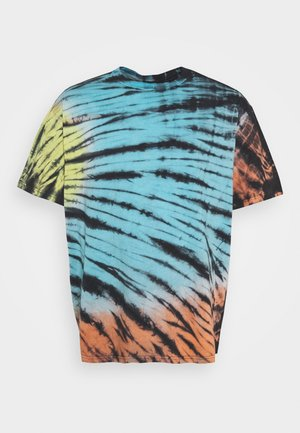 TIE DYE OVERSIZED TEE - T-shirt print - multi-coloured/blue