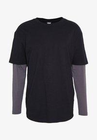 Urban Classics - OVERSIZED SHAPED DOUBLE LAYER TEE - Maglietta a manica lunga - darkshadow - 4
