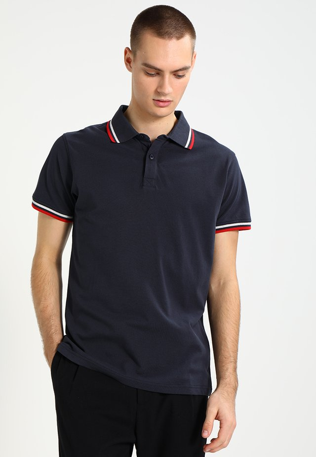 Polo - navy/white/firered