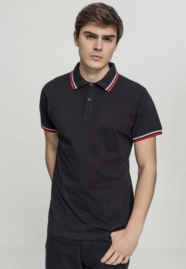 Polo - black/white/firered