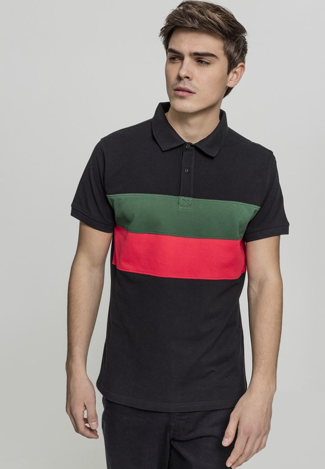 Polo - black/green/fire red