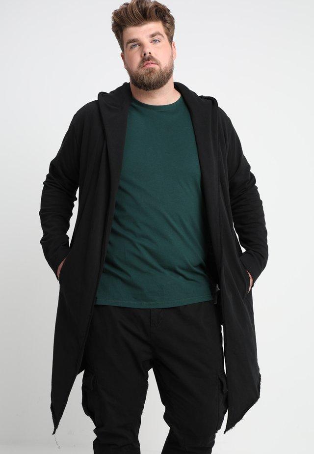 LONG HOODED OPEN EDGE  - Bluza rozpinana - black
