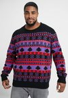 Urban Classics - SNOWFLAKE CHRISTMAS TREE - Jumper - ultraviolet/black/firered