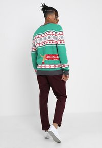 Urban Classics - SAUSAGE DOG CHRISTMAS - Stickad tröja - green/offwhite/grey/red - 2