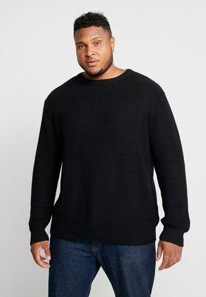 STITCH PLUS SIZE - Sweter - black