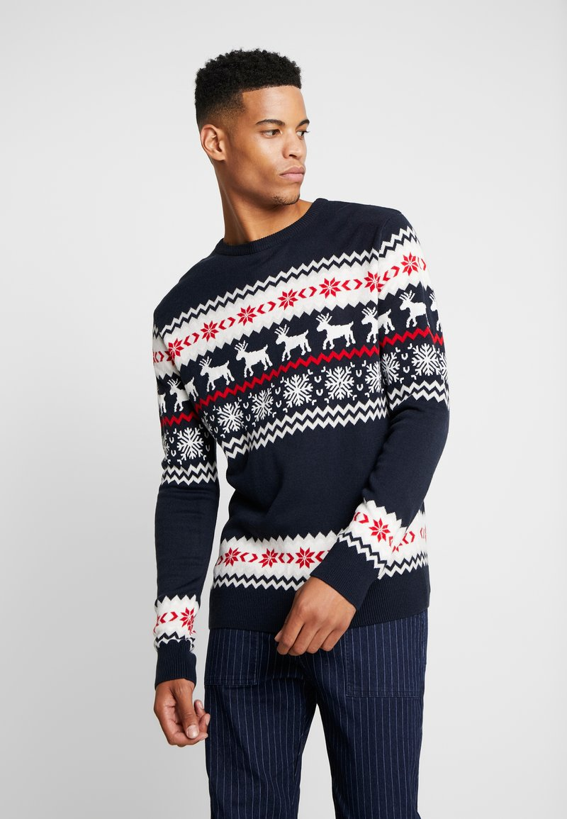 Urban Classics - NORWEGIAN CHRISTMAS - Stickad tröja - navy