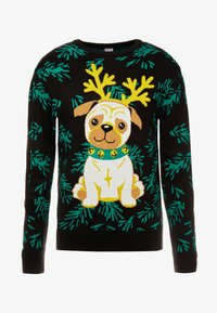 Urban Classics - PUG CHRISTMAS - Pullover - black - 3