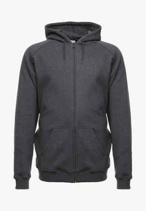 ZIP HOODY - Collegetakki - charcoal