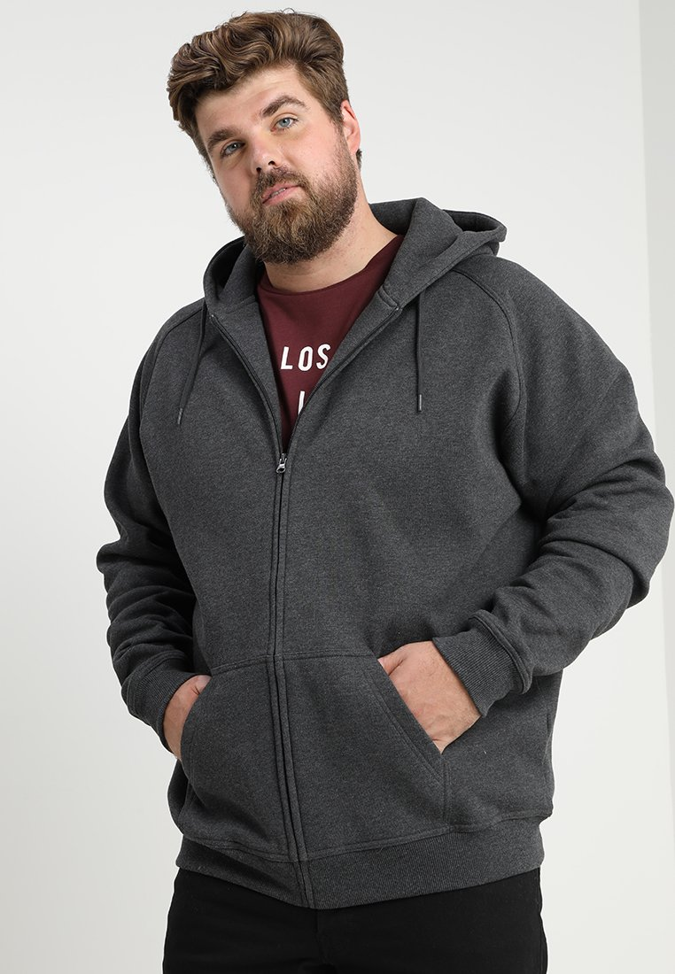 Urban Classics - ZIP HOODY - Zip-up hoodie - charcoal