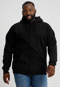 Urban Classics - ZIP HOODY - Zip-up hoodie - black - 0