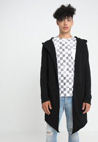 Urban Classics - LONG HOODED OPEN EDGE - Mikina na zip - black - 0