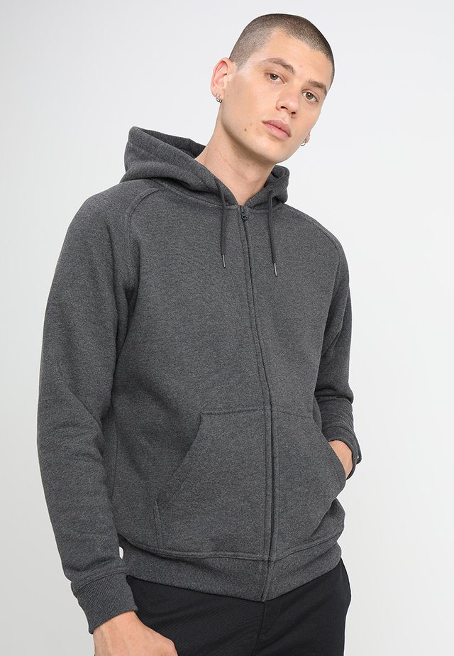 ZIP HOODY - Zip-up hoodie - charcoal