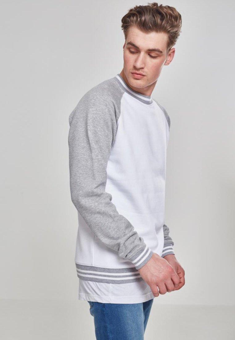 mottled Grey SweatshirtWhite Light Urban Classics OknPN8w0X