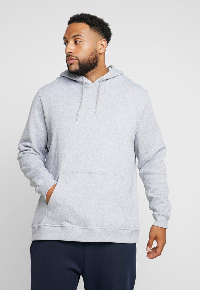 ORGANIC BASIC HOODY PLUS SIZE - Jersey con capucha - grey