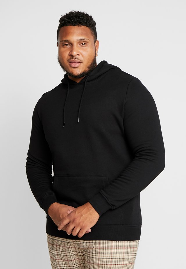 ORGANIC BASIC HOODY PLUS SIZE - Jersey con capucha - black