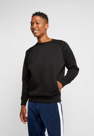 RAGLAN ZIP POCKET CREW - Sudadera - black