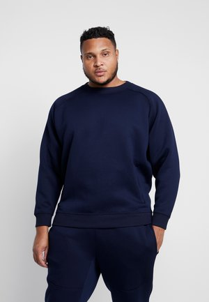 ZIP POCKET CREW PLUS SIZE - Mikina - midnight navy