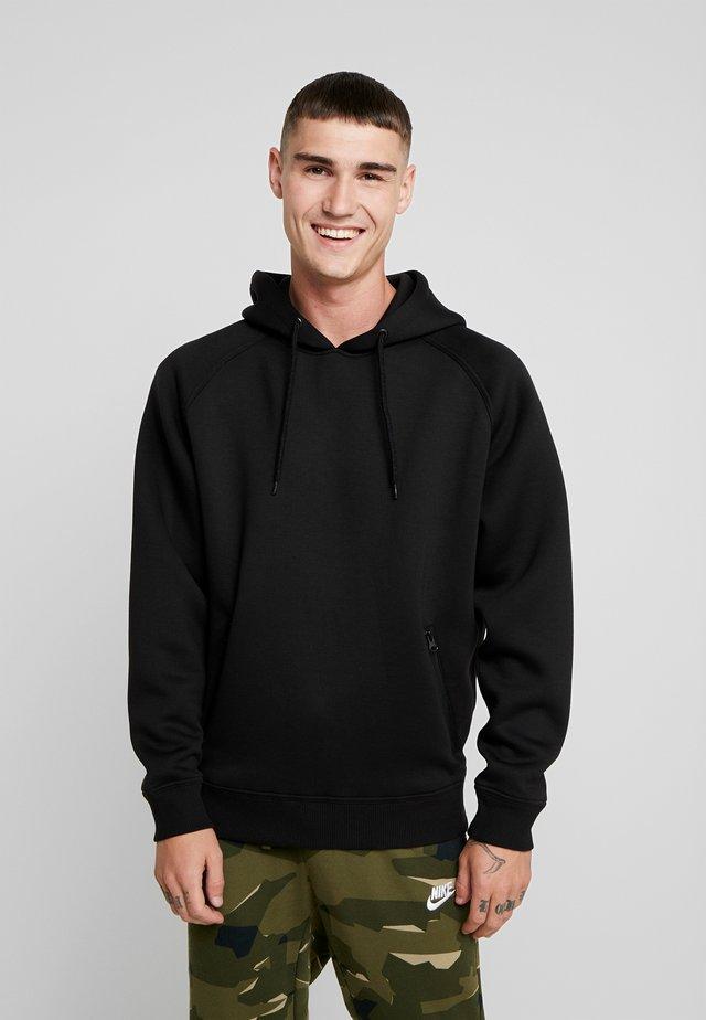 RAGLAN ZIP POCKET HOODY - Jersey con capucha - black