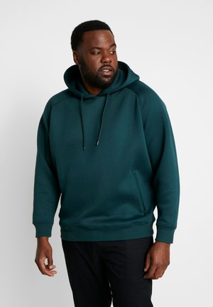 RAGLAN ZIP POCKET HOODY PLUS SIZE - Hoodie - bottlegreen