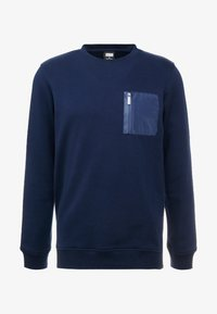 Urban Classics - MILITARY CREW - Sweater - midnightnavy - 4