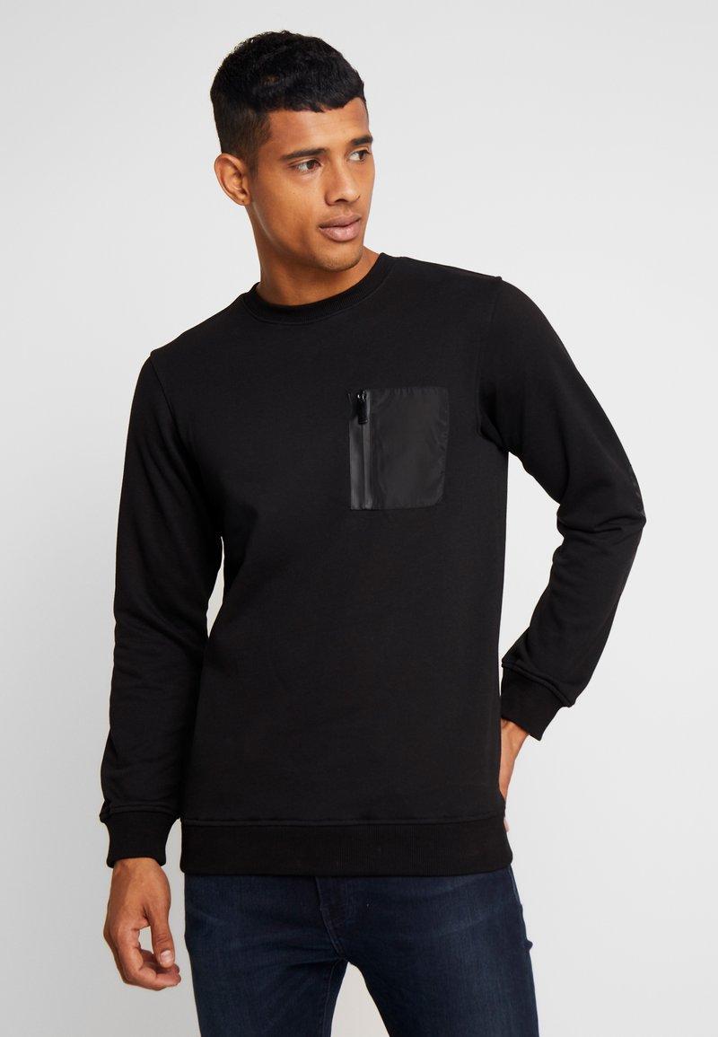 Urban Classics - MILITARY CREW - Sweatshirts - black