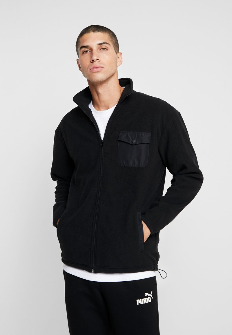 Urban Classics - POLAR TRACK JACKET - Fleecetakki - black