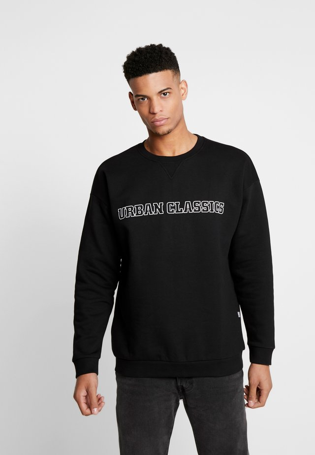 MID LOGO OVERSIZED CREW - Sweatshirts - black