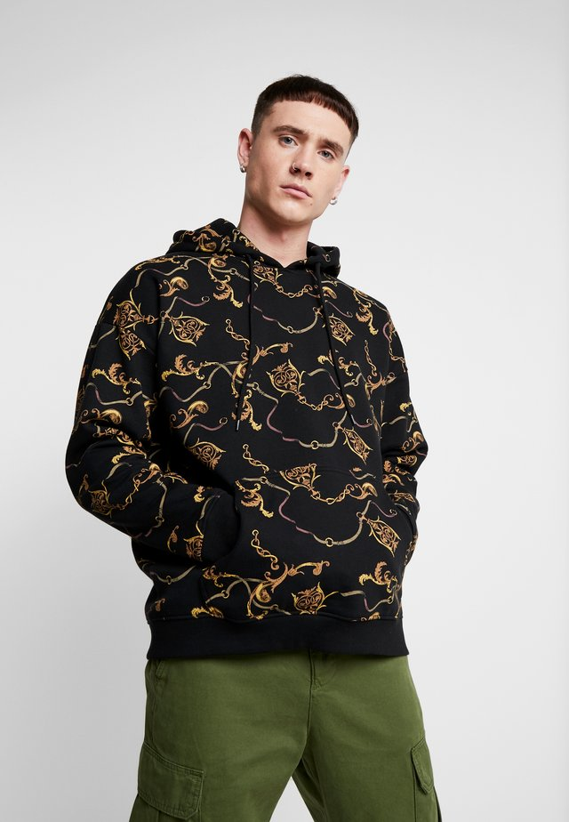 LUXURY PRINT OVERSIZED HOODY - Hoodie - black