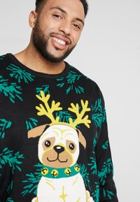 Urban Classics - PUG CHRISTMAS SWEATER - Trui - black - 3