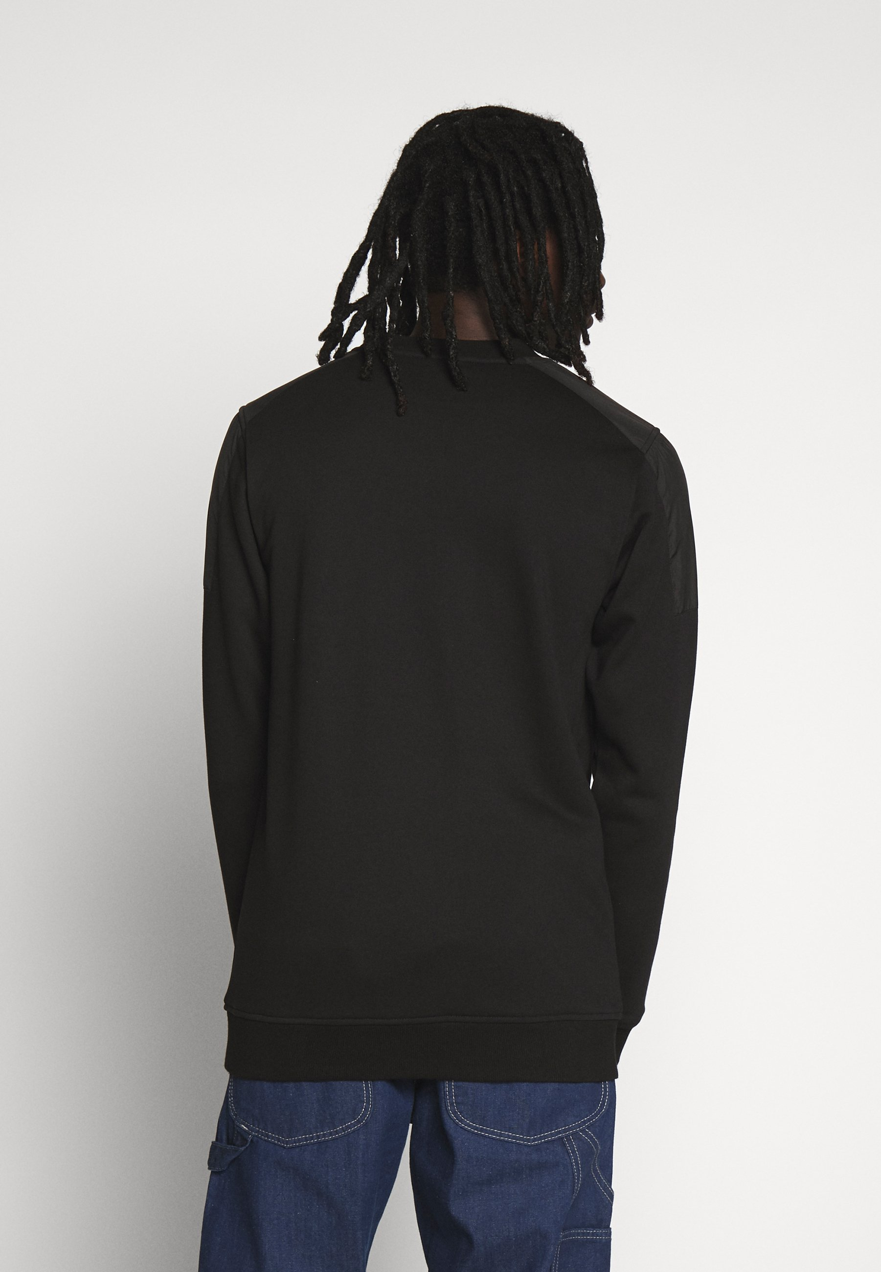 Urban Classics MILITARY SHOULDER CREW - Felpa - black
