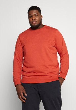 BASIC TERRY CREW  - Mikina - burned red