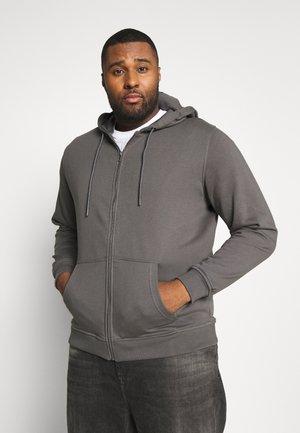 BASIC TERRY ZIP HOODIE - Felpa aperta - darkshadow