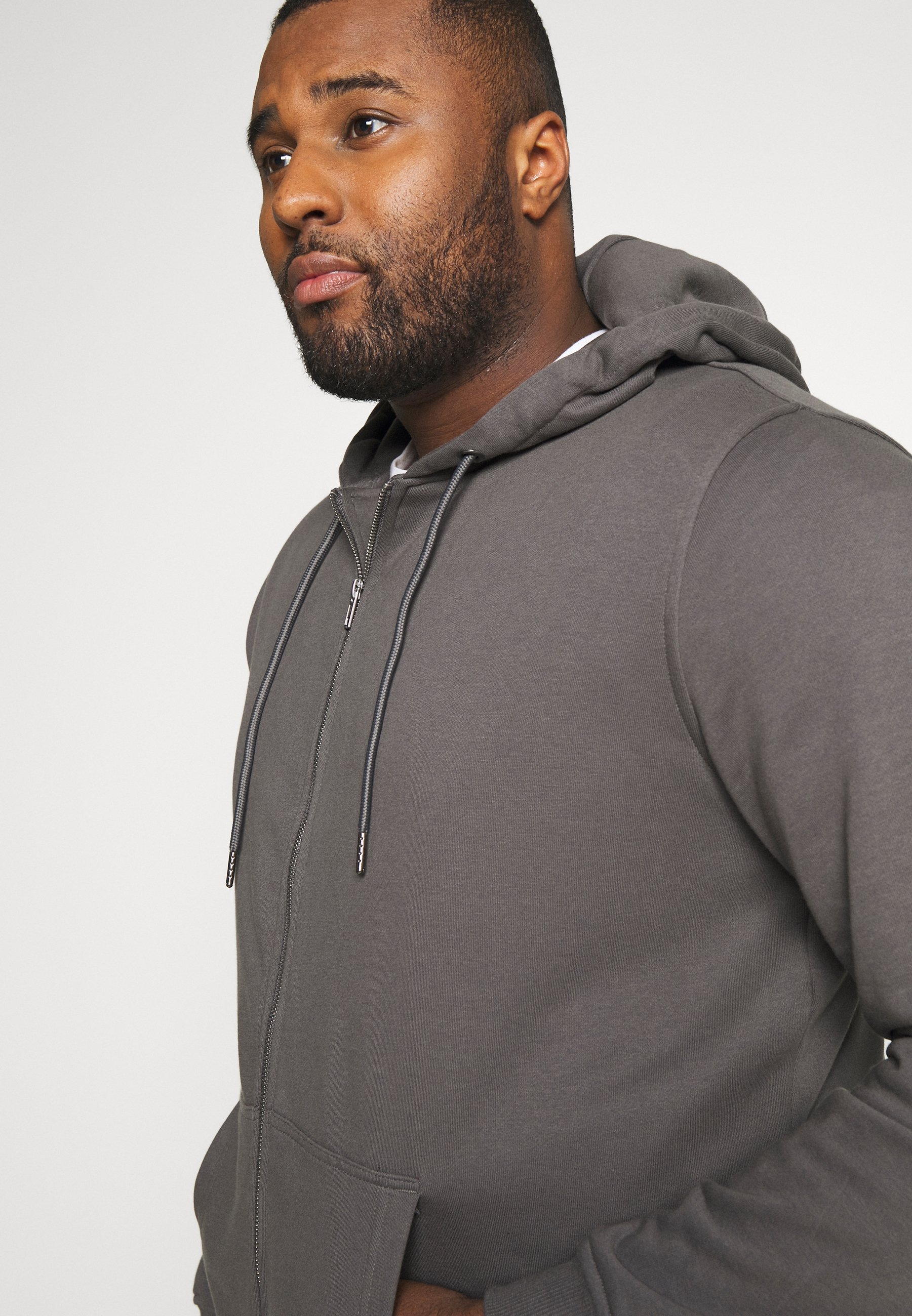 Urban Classics Basic Terry Zip Hoodie - Zip-up Darkshadow