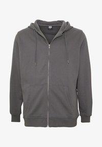 Urban Classics - BASIC TERRY ZIP HOODIE - Zip-up hoodie - darkshadow - 3