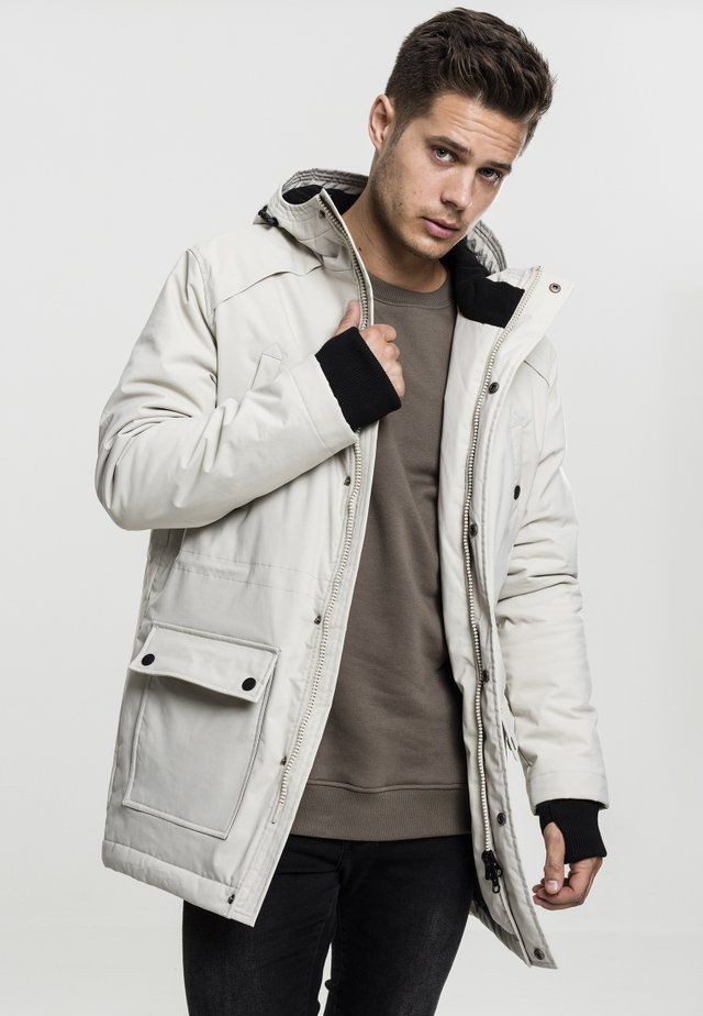 HOODED HEAVY THUMBHOLE - Parka - stone