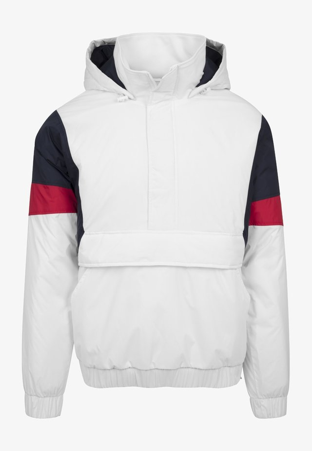 3-TONE PULL OVER  - Jas - white/navy/fire red