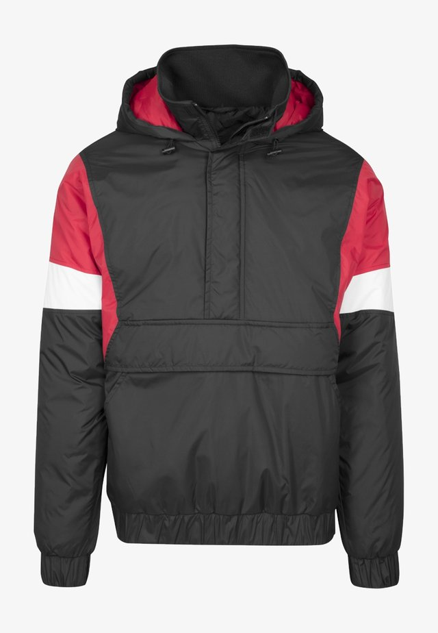 3-TONE PULL OVER  - Jas - black/fire red/white