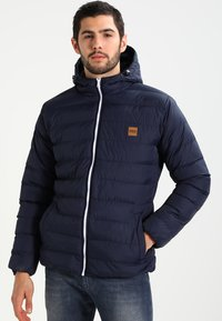 Urban Classics - BASIC BUBBLE JACKET - Giacca invernale - navy/white/navy - 0