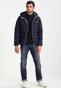 Urban Classics - BASIC BUBBLE JACKET - Giacca invernale - navy/white/navy - 1
