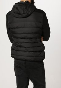 Urban Classics - BASIC BUBBLE JACKET - Veste d'hiver - black/white/black - 3