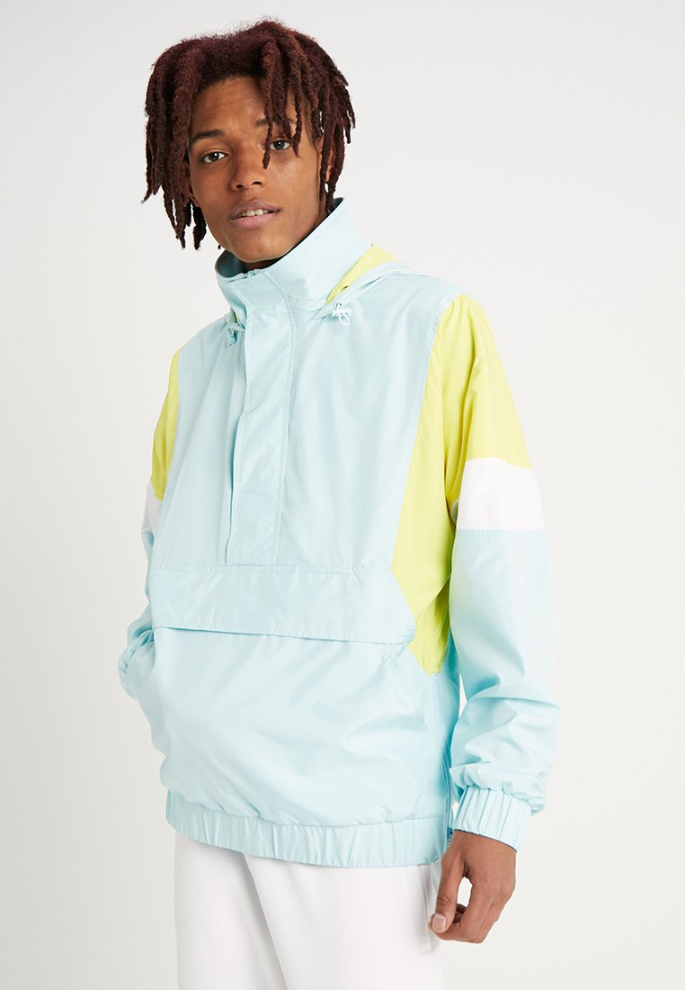 Urban Classics - LIGHT TONE PULL OVER JACKET - Tuulitakki - light blue/bright yellow/white