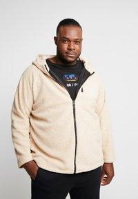 Urban Classics - HOODED ZIP JACKET - Summer jacket - darksand - 0