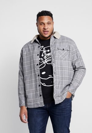 GLENCHECK SHIRT JACKET PLUS SIZE - Giacca leggera - white/black