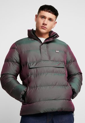 SHIMMERING PULL OVER PUFFER JACKET - Winterjas - redwine green