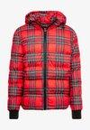 Urban Classics - HOODED CHECK JACKET - Winter jacket - red/black
