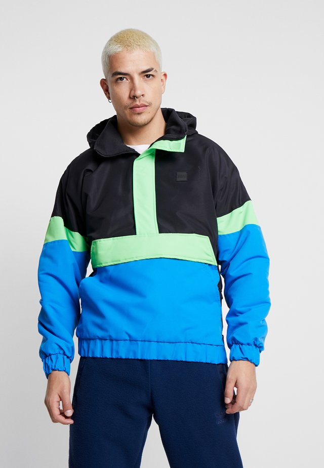 TONE MIX PULL OVER  - Jas - black/cobaltblue/neongreen