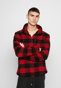 Urban Classics - PLAID HIKING JACKET - Korte jassen - red/black - 0