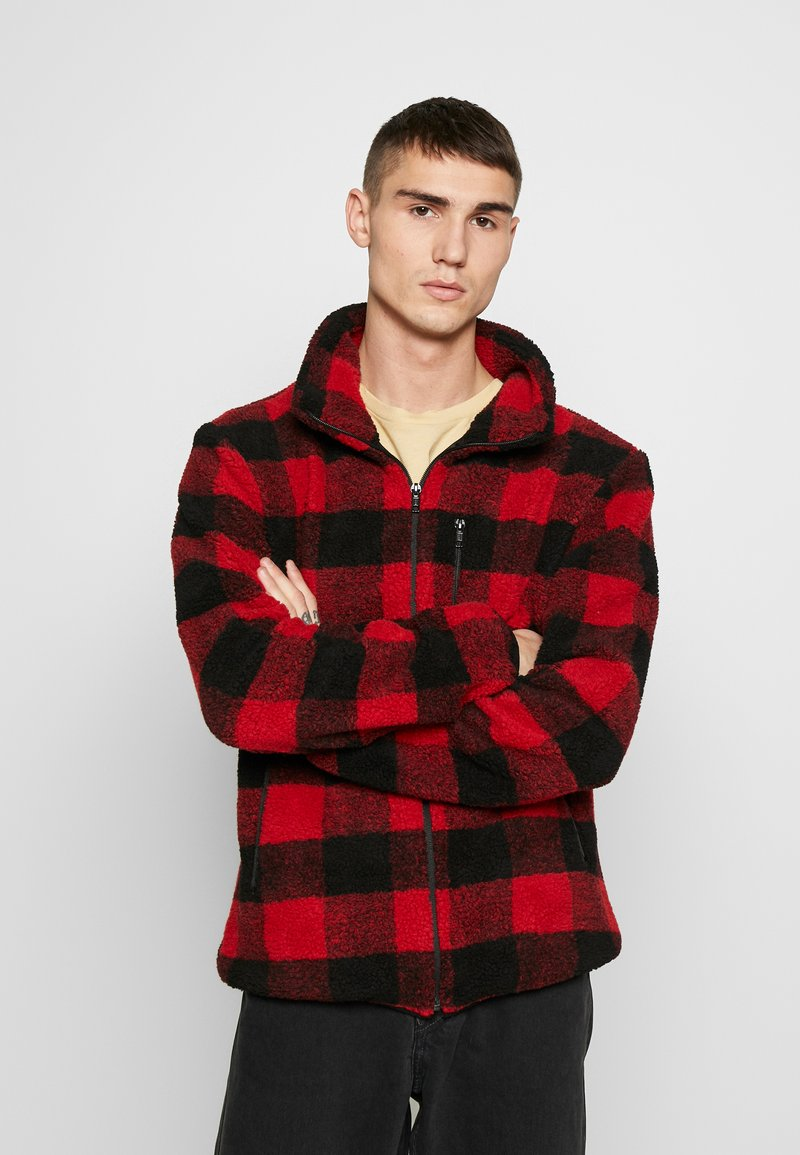 Urban Classics - PLAID HIKING JACKET - Korte jassen - red/black